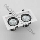 Встраиваемый потолочный светильник LED 2х9Вт